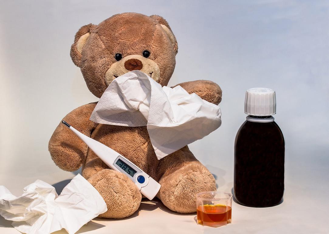 Erkälteter Teddybär